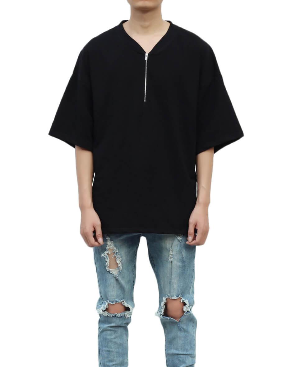 Light Terry Boxy T-Shirt  - Black