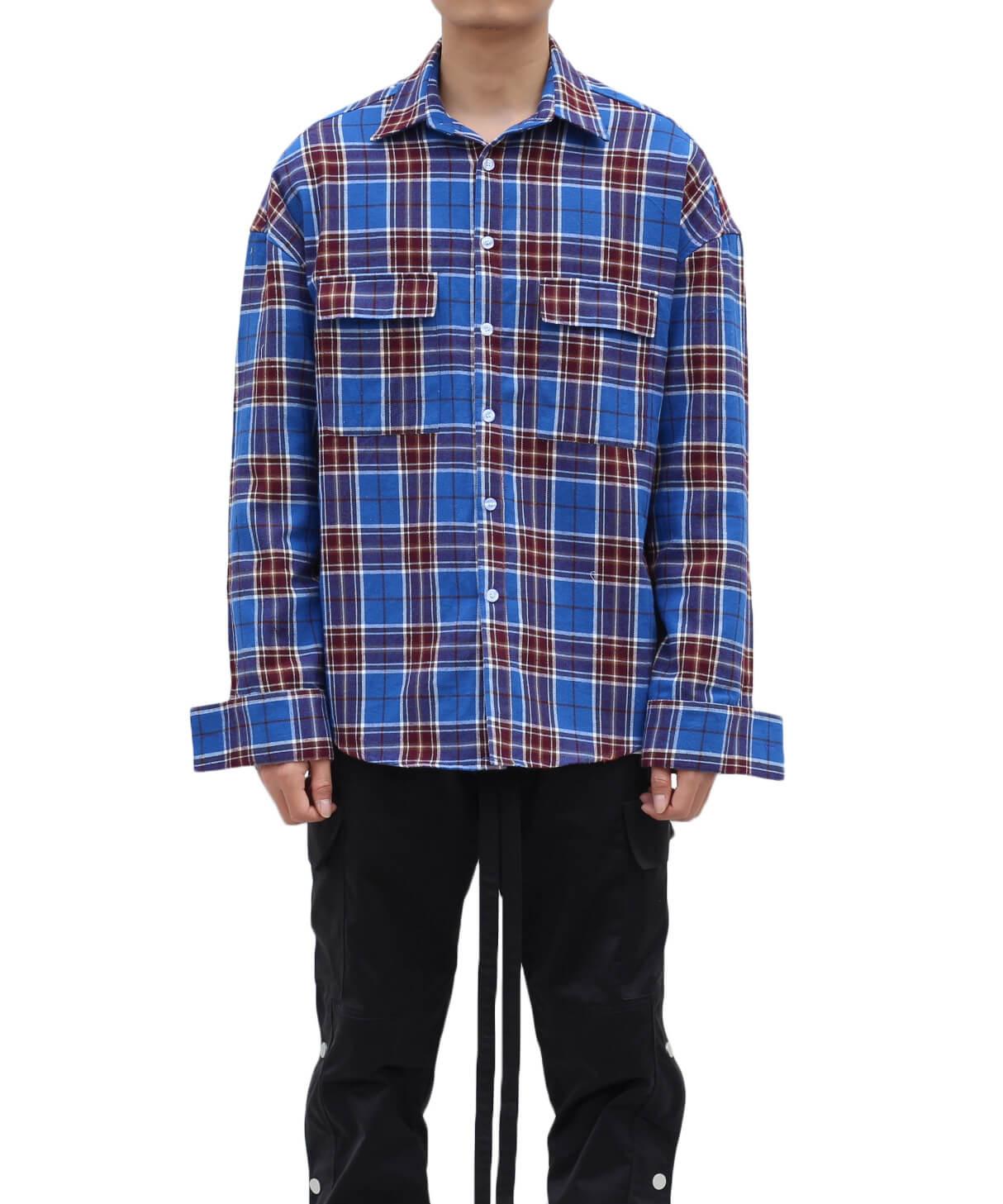 Flannel Shirt V2 - Blue