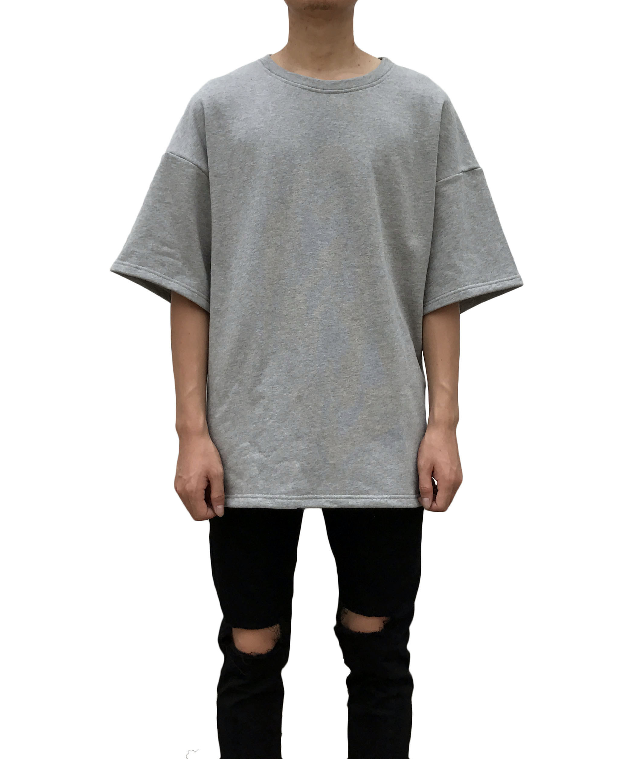 Heavy Terry Boxy T-shirt - Grey