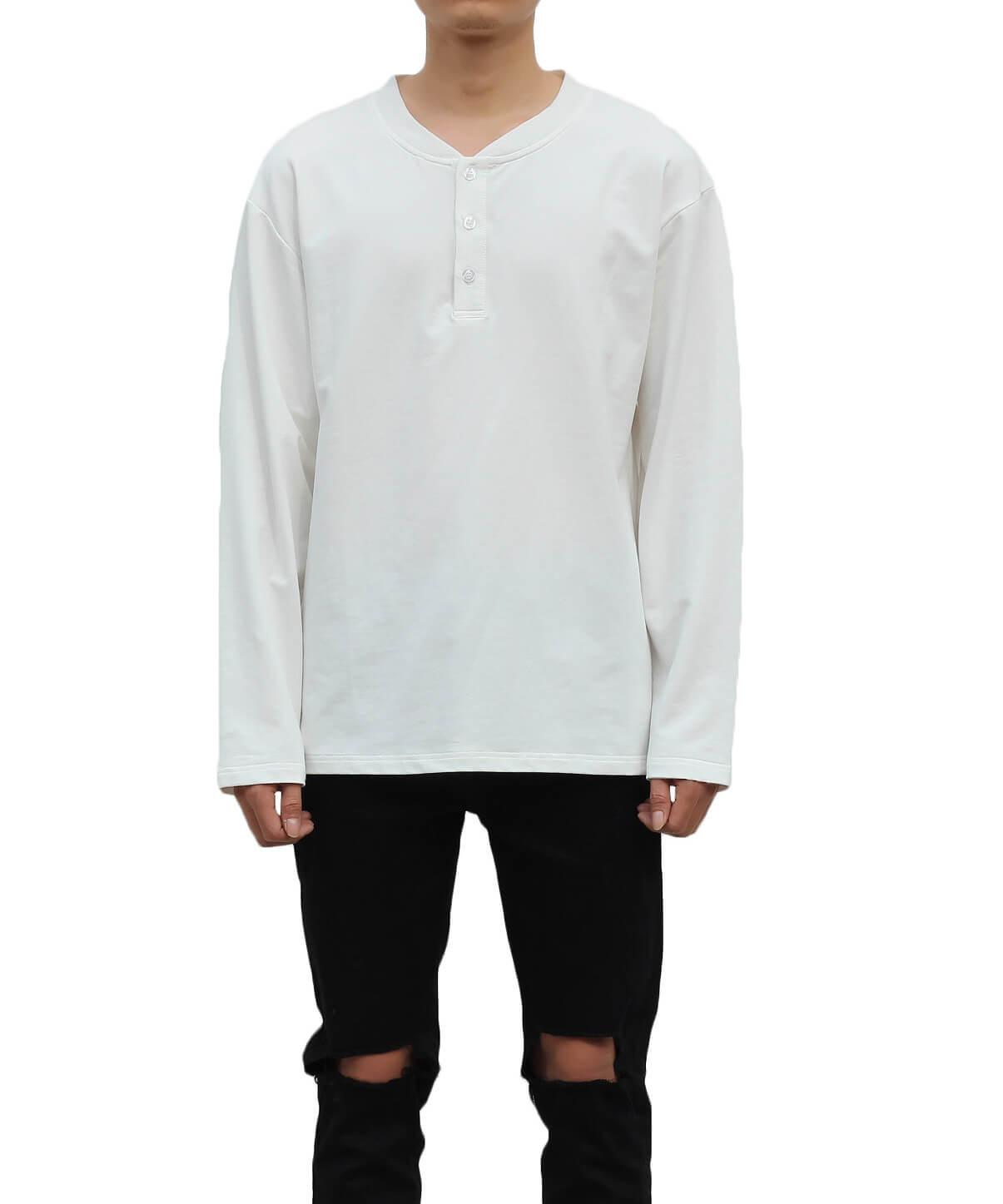 Light Terry  Long Sleeve T-Shirt - Ivory