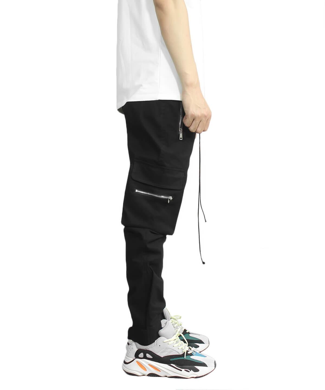 Cotton  Military Pants - Black