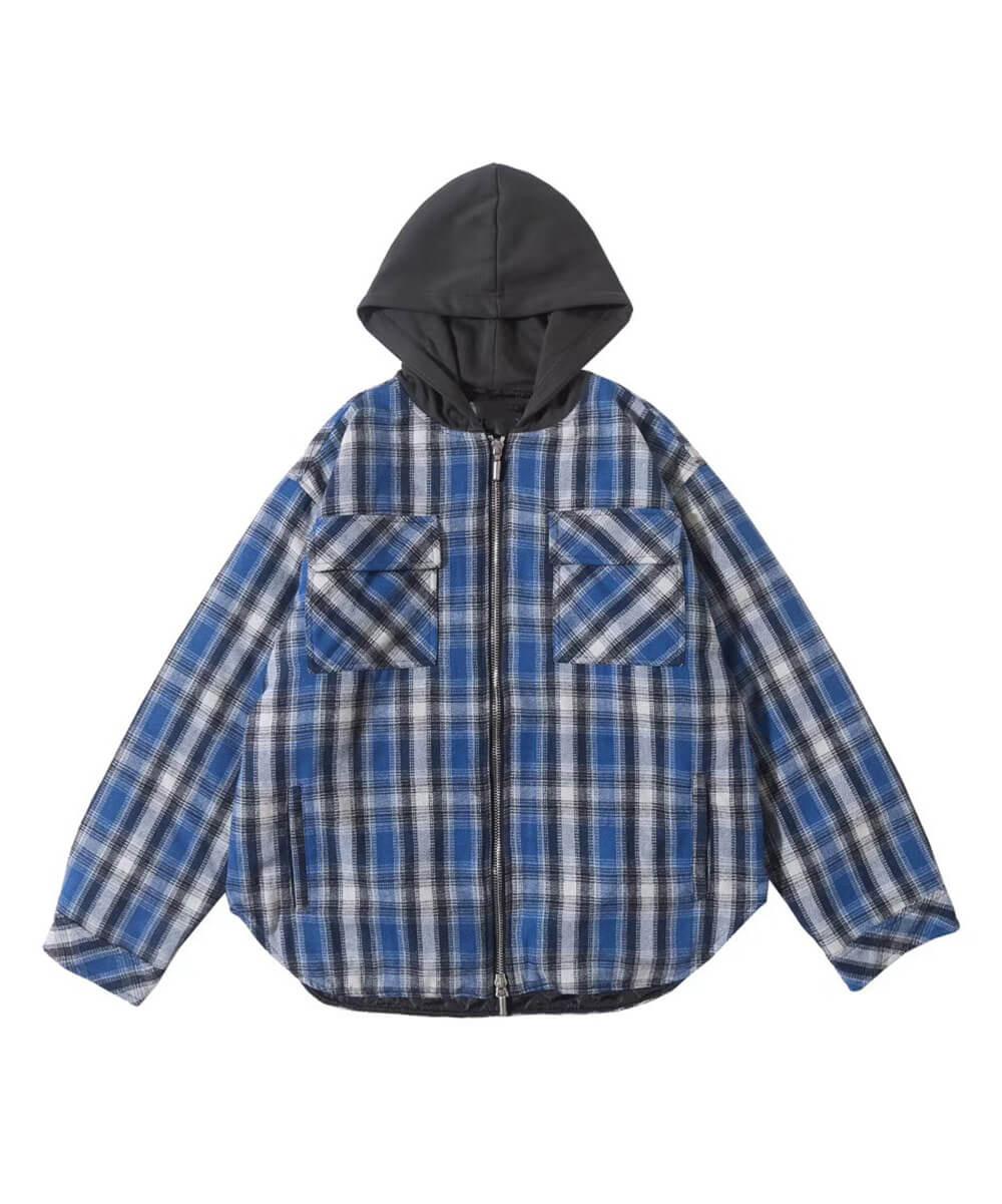Hooded Flannel Jacket V4