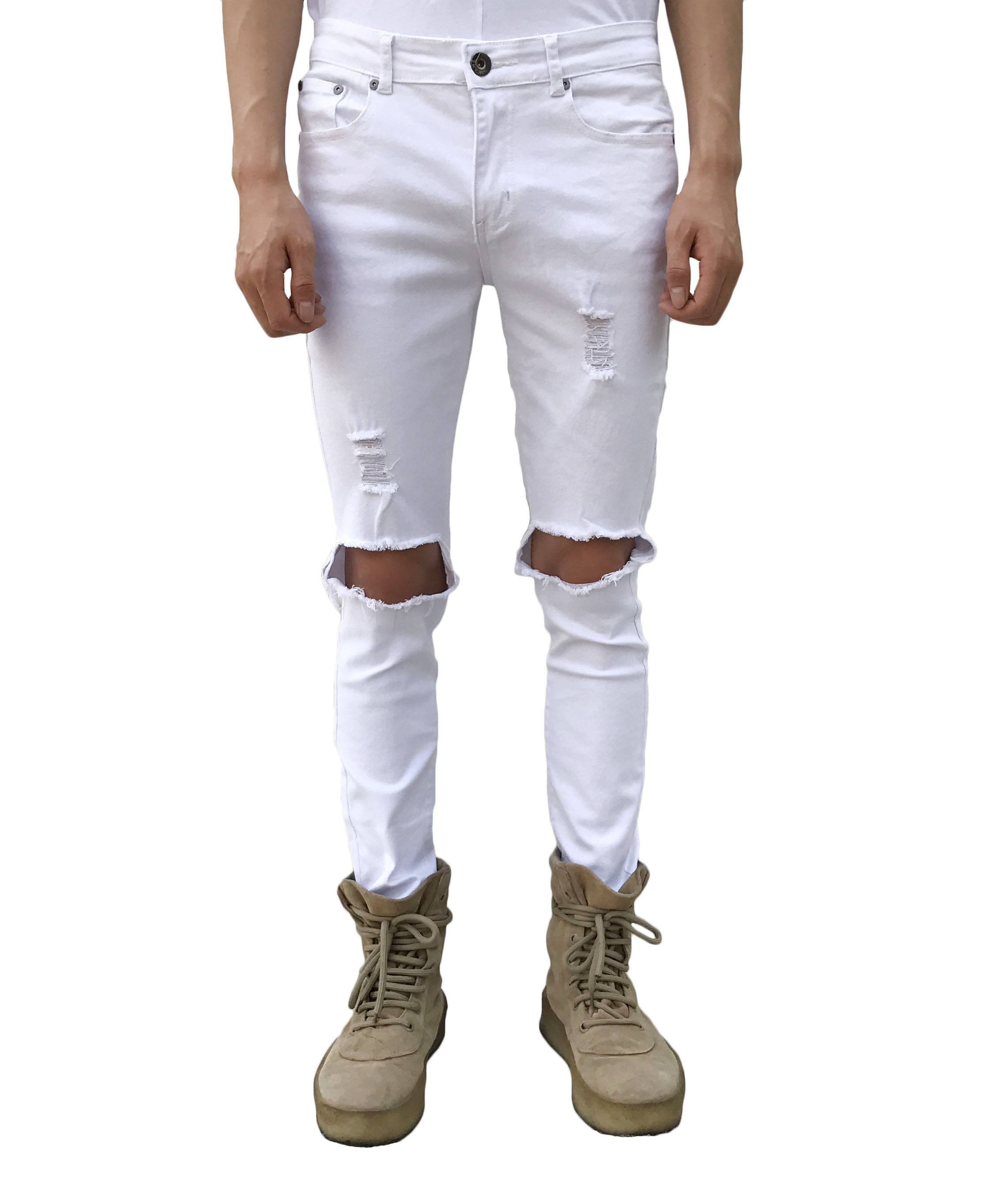 Blownout Jeans - White
