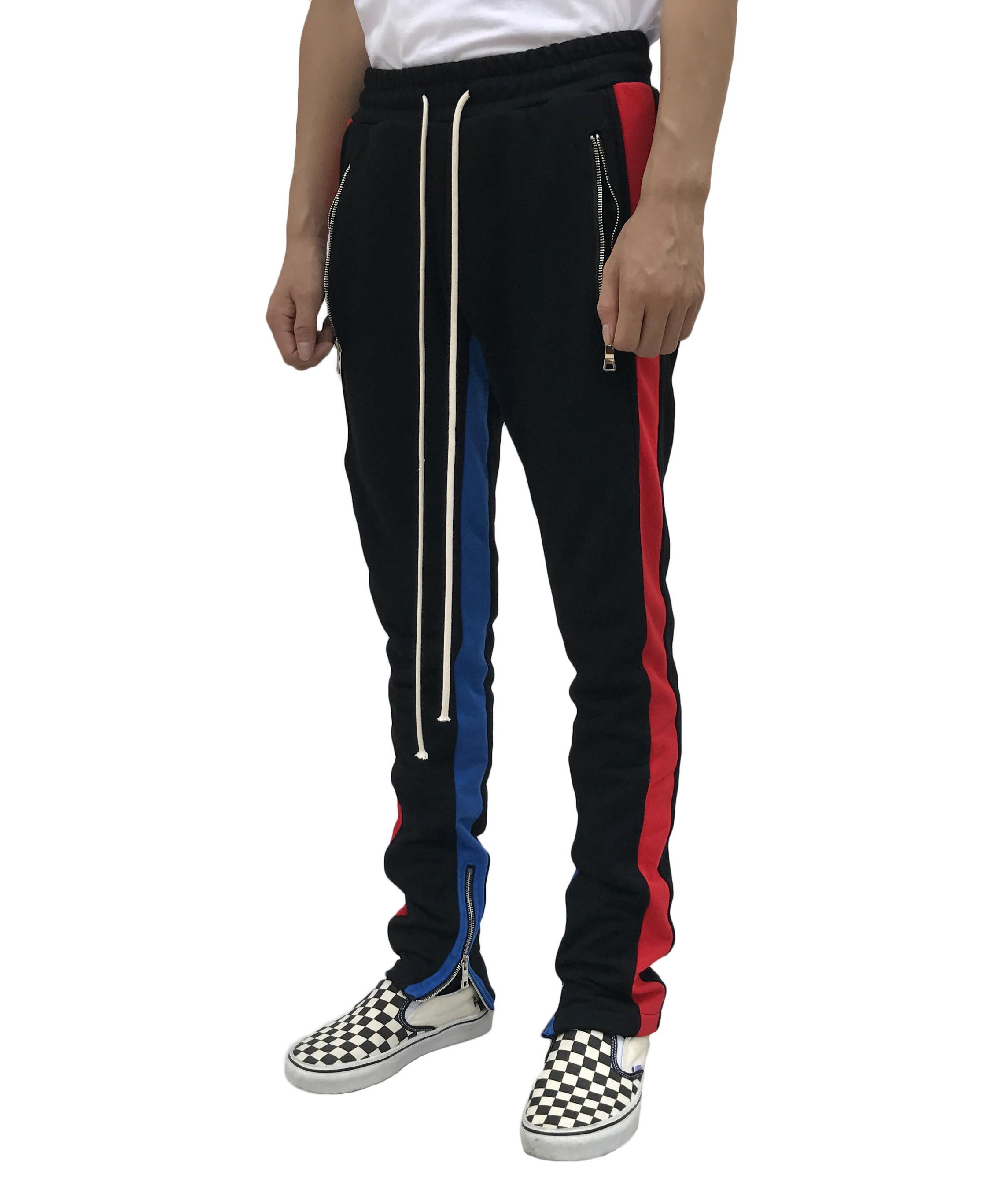 Track pants - Red/blue stripe