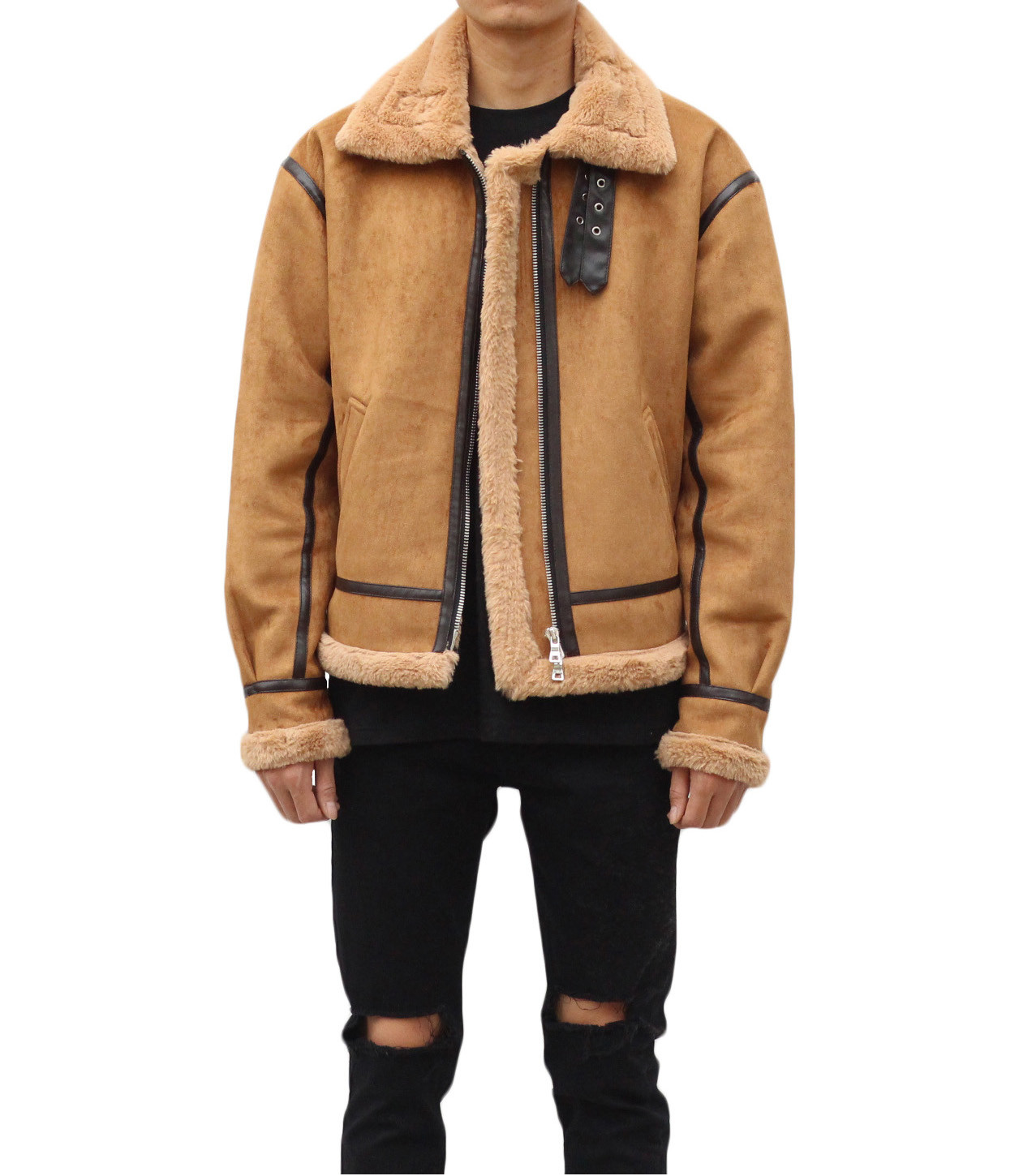 Shearling Jacket - Tan