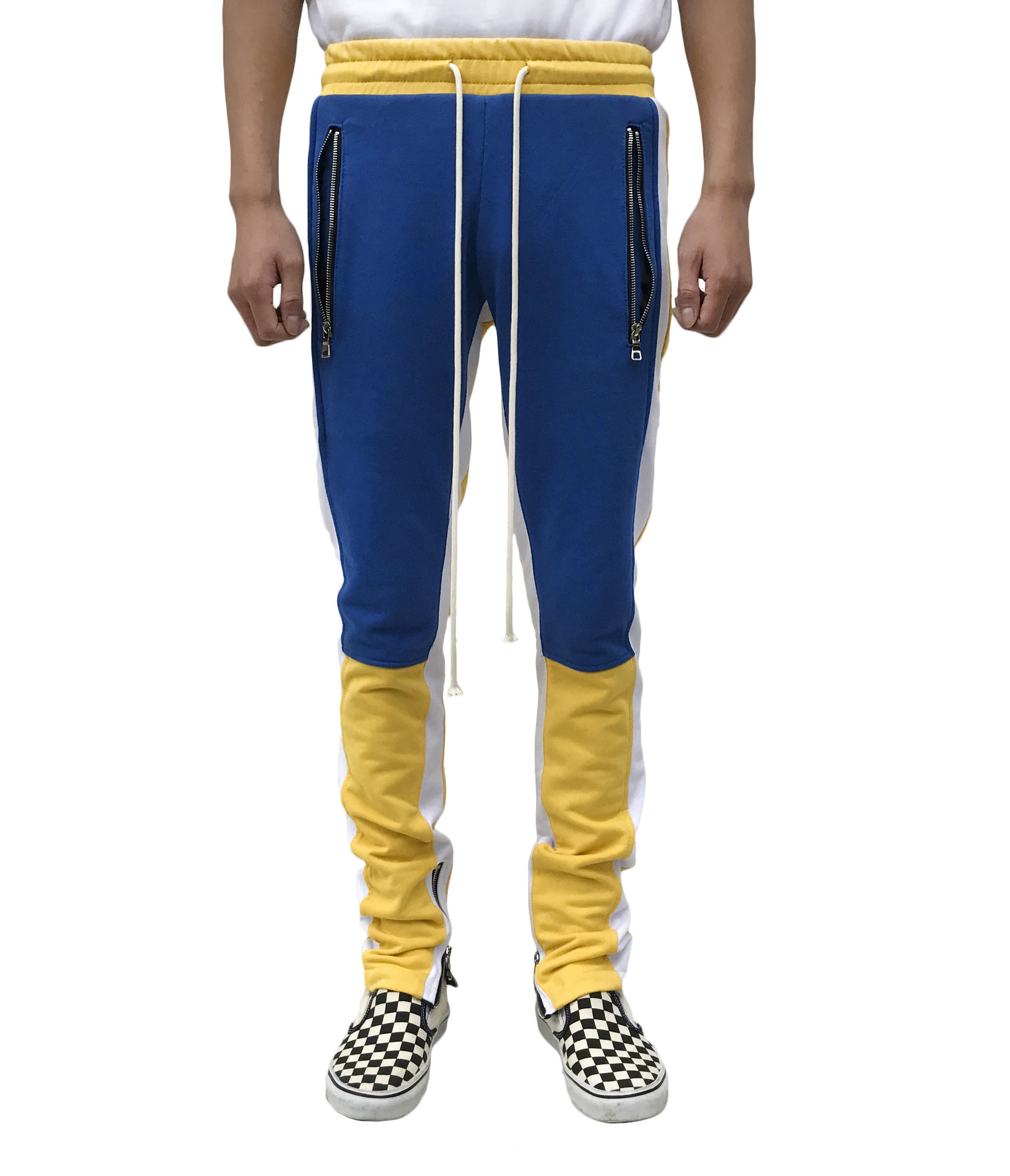 Best And Coolest Motocross Track Pant Yellow Blue For Men Yellow Blue Urkoolwear