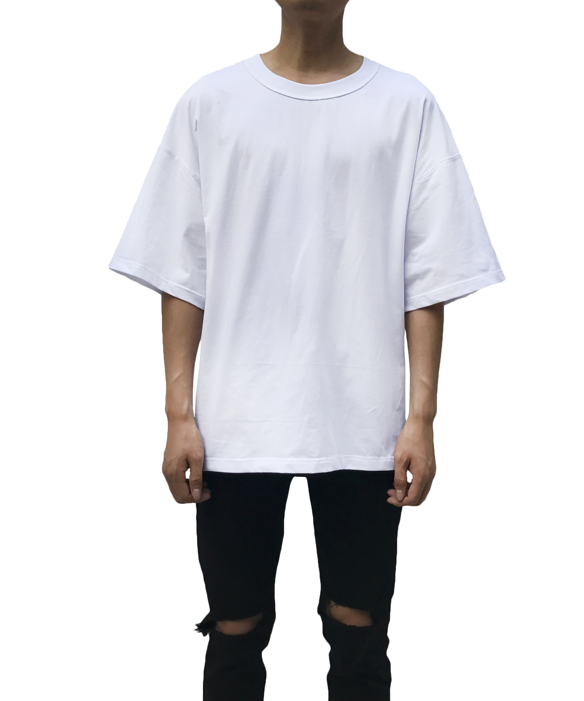 Heavy Jersey Inside Out Tee - White
