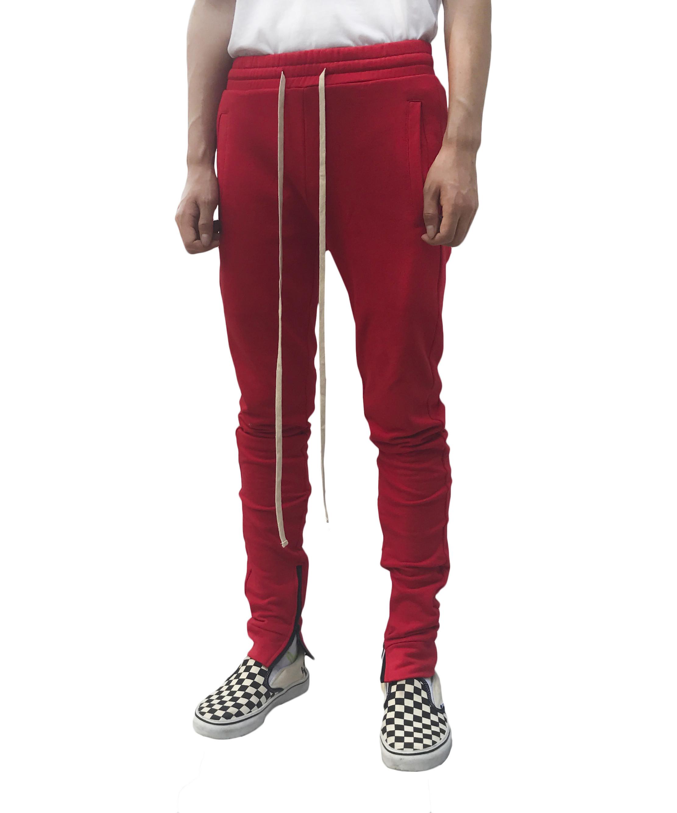 Zip Everyday Sweatpants - Red