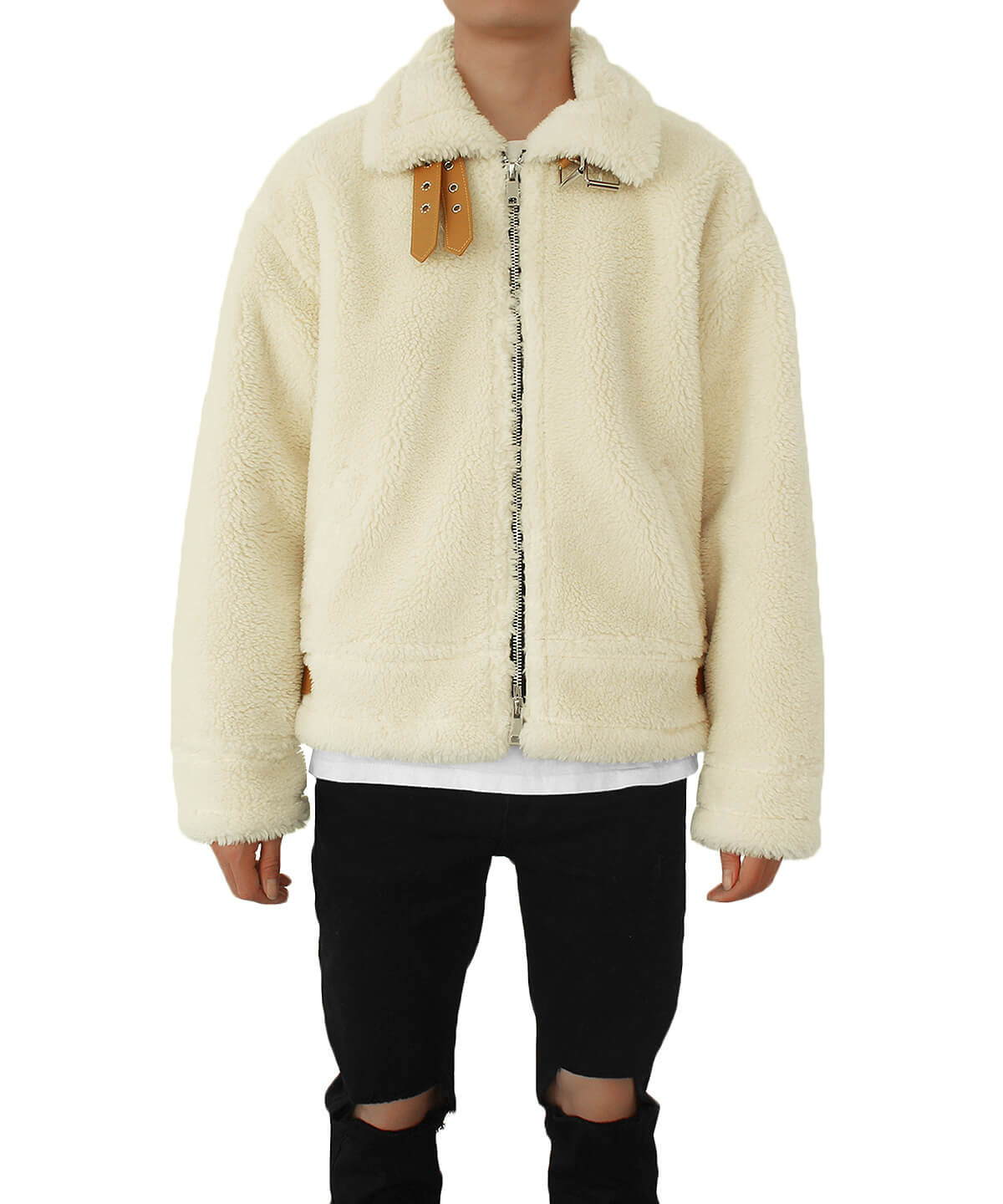 Oversized Shearling Jacket V2 - Natural
