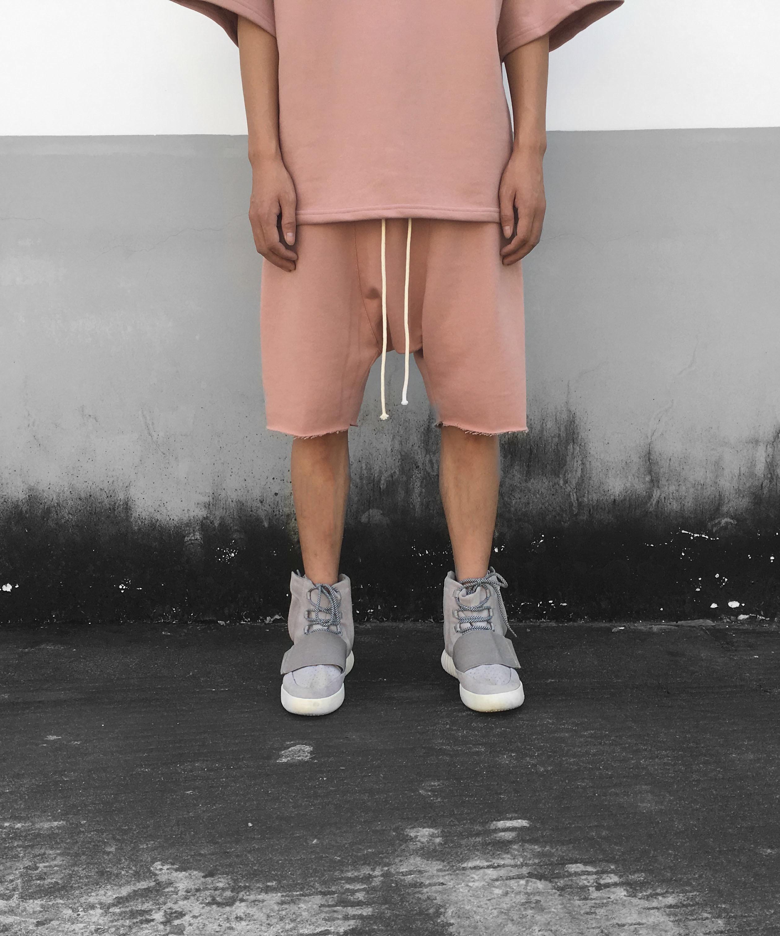 Drop Crotch Short - Pink