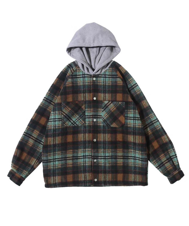 Hooded Flannel Jacket V3
