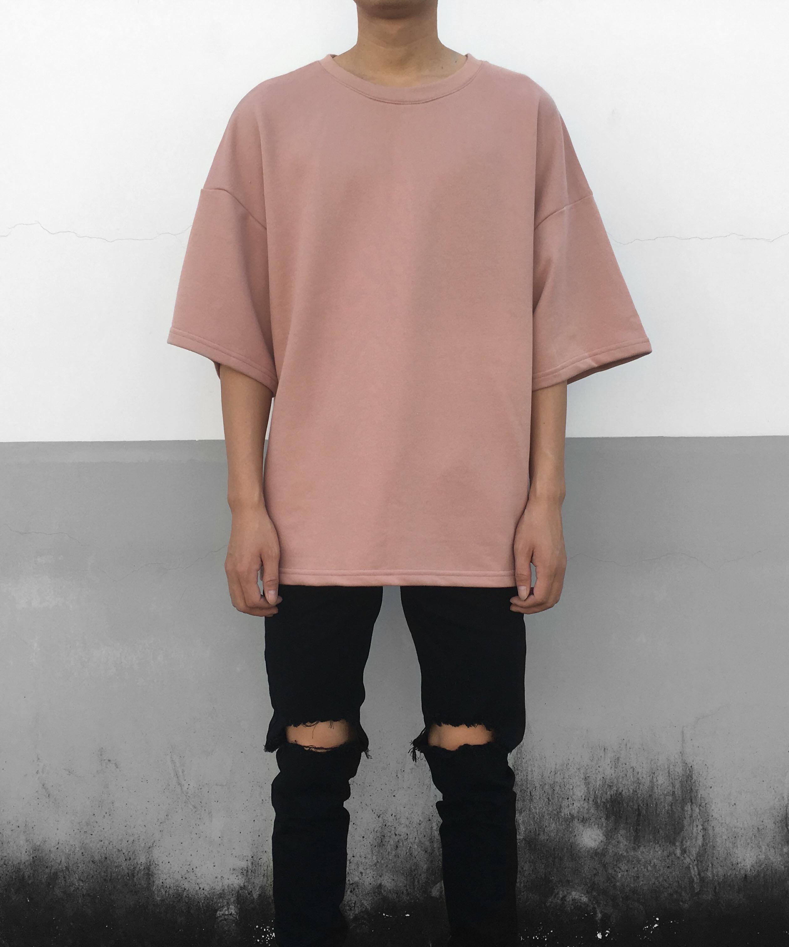 3/4 Sleeve Jersey T-shirt- Pink
