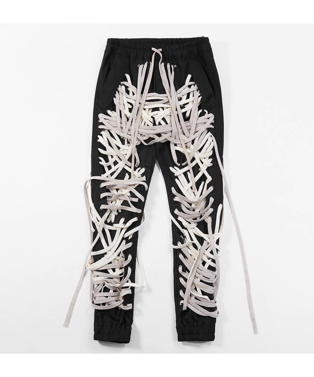 Multi Strap Pants - White Strap