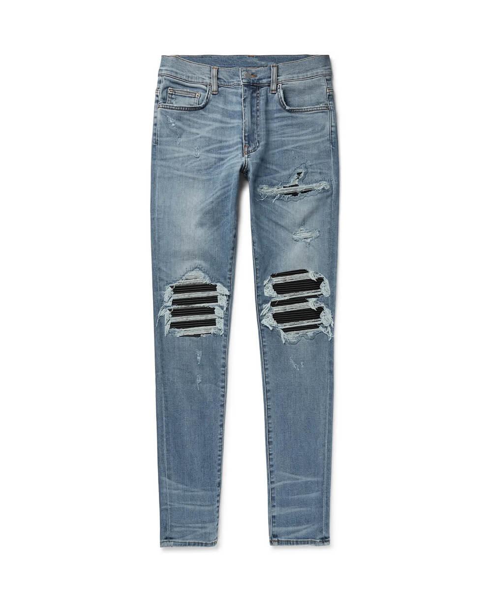 Leather Patch Jeans V2