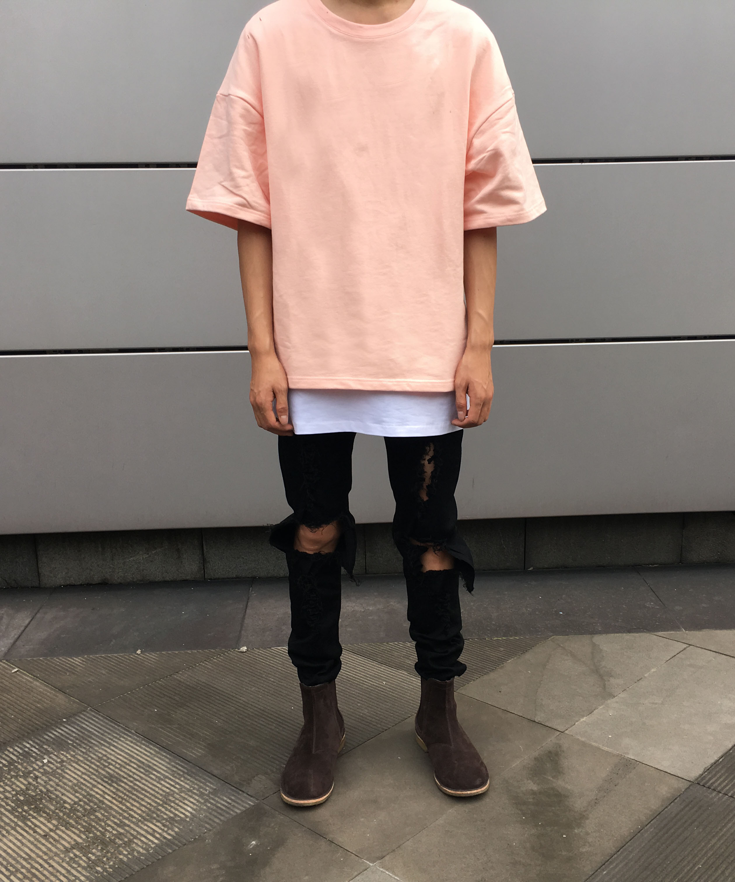 3/4 Sleeve Jersey T-shirt - Peach