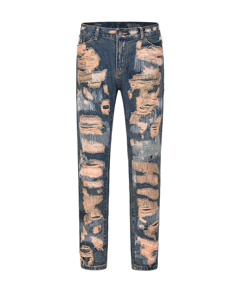 Shredded Destroyed Jeans - Blue