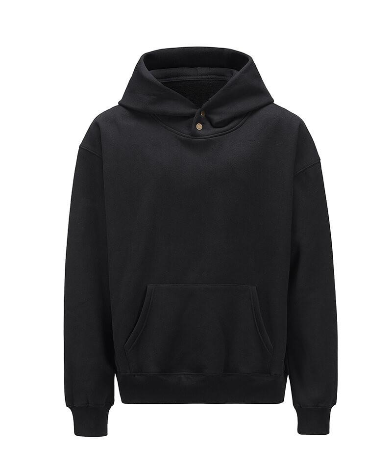 Snap Hoodie - Black