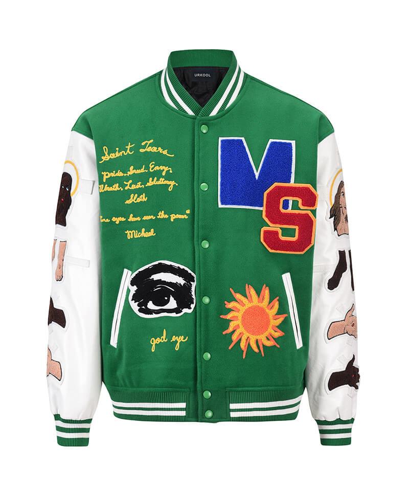 Graphic Varsity Jacket
