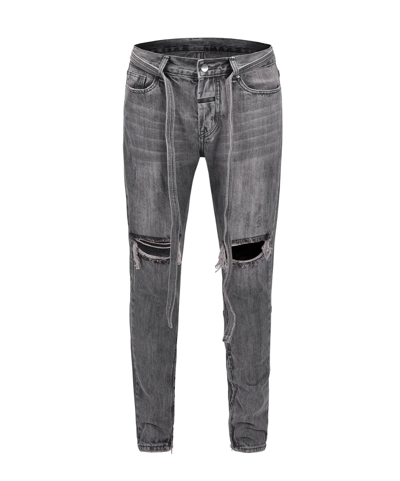 Standard Destroyed Jeans - Grey