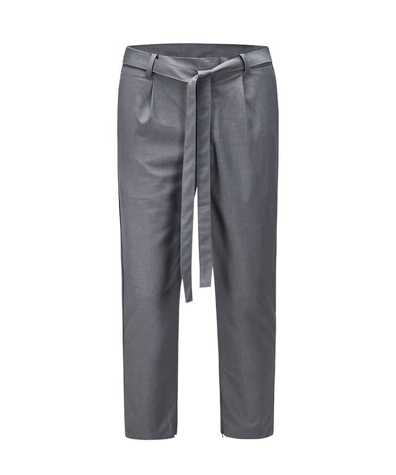 Drawstring Casual Pants - Grey
