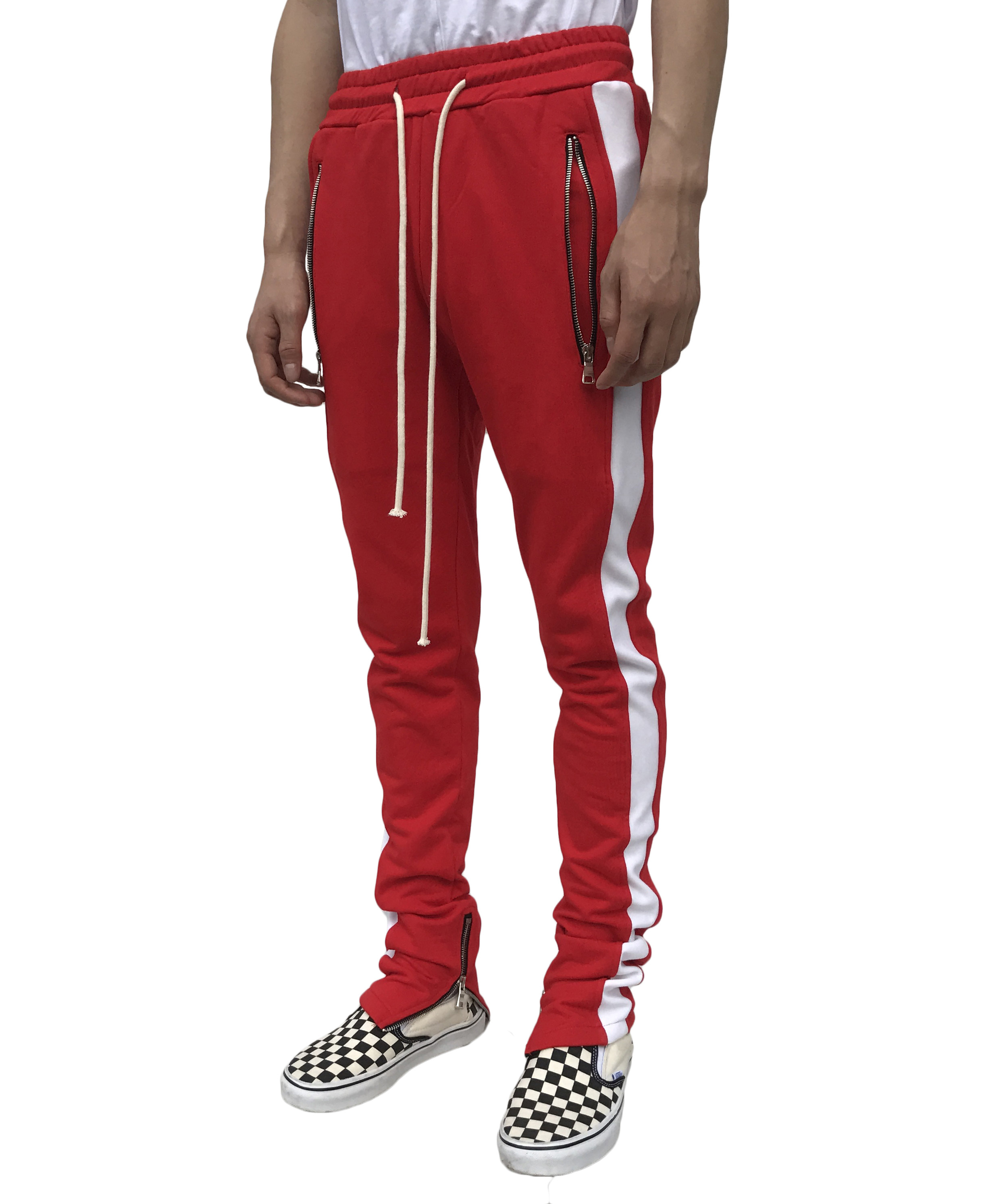 Zip Track Pant - Red