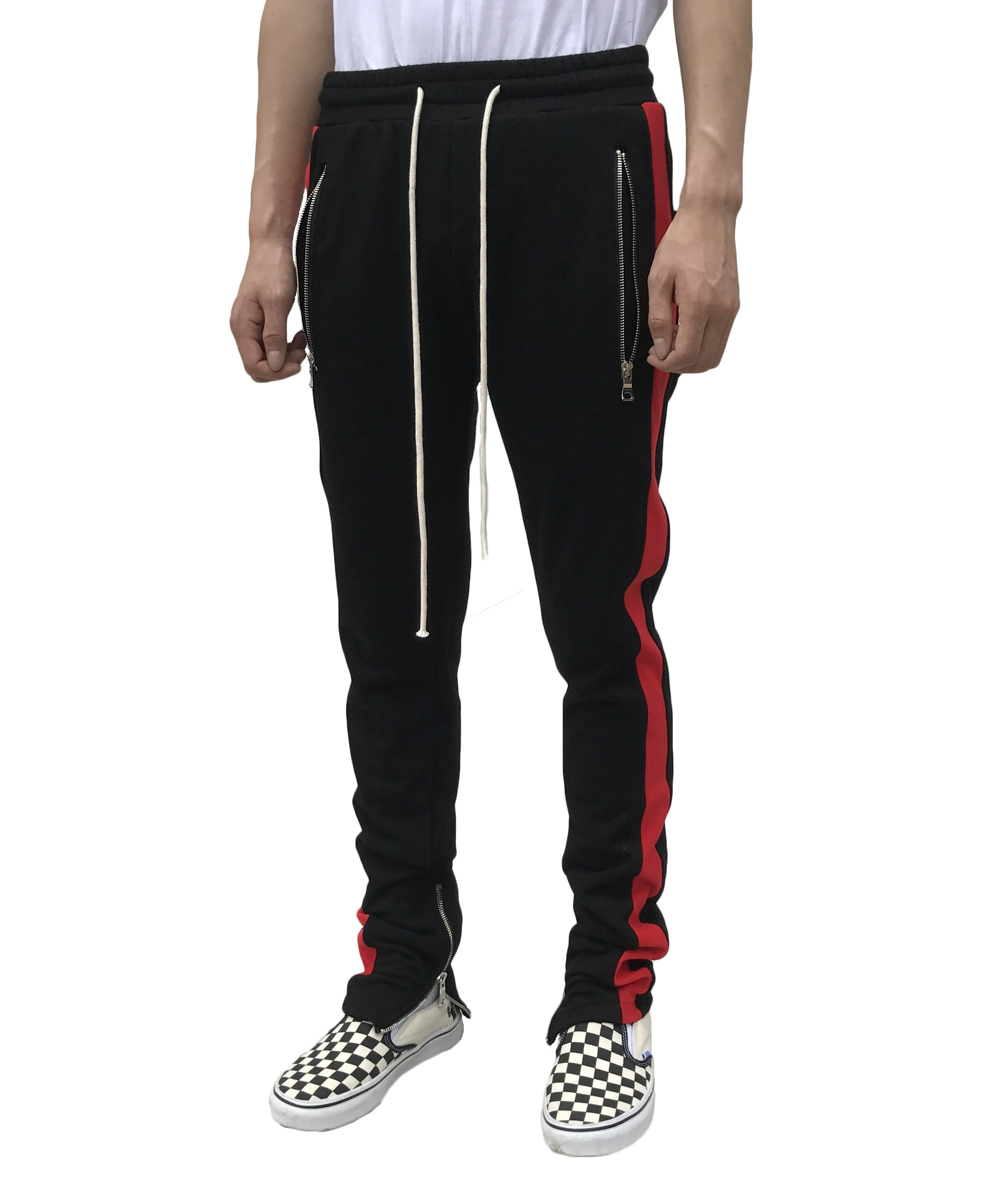 Zip Track Pant - Red Panel
