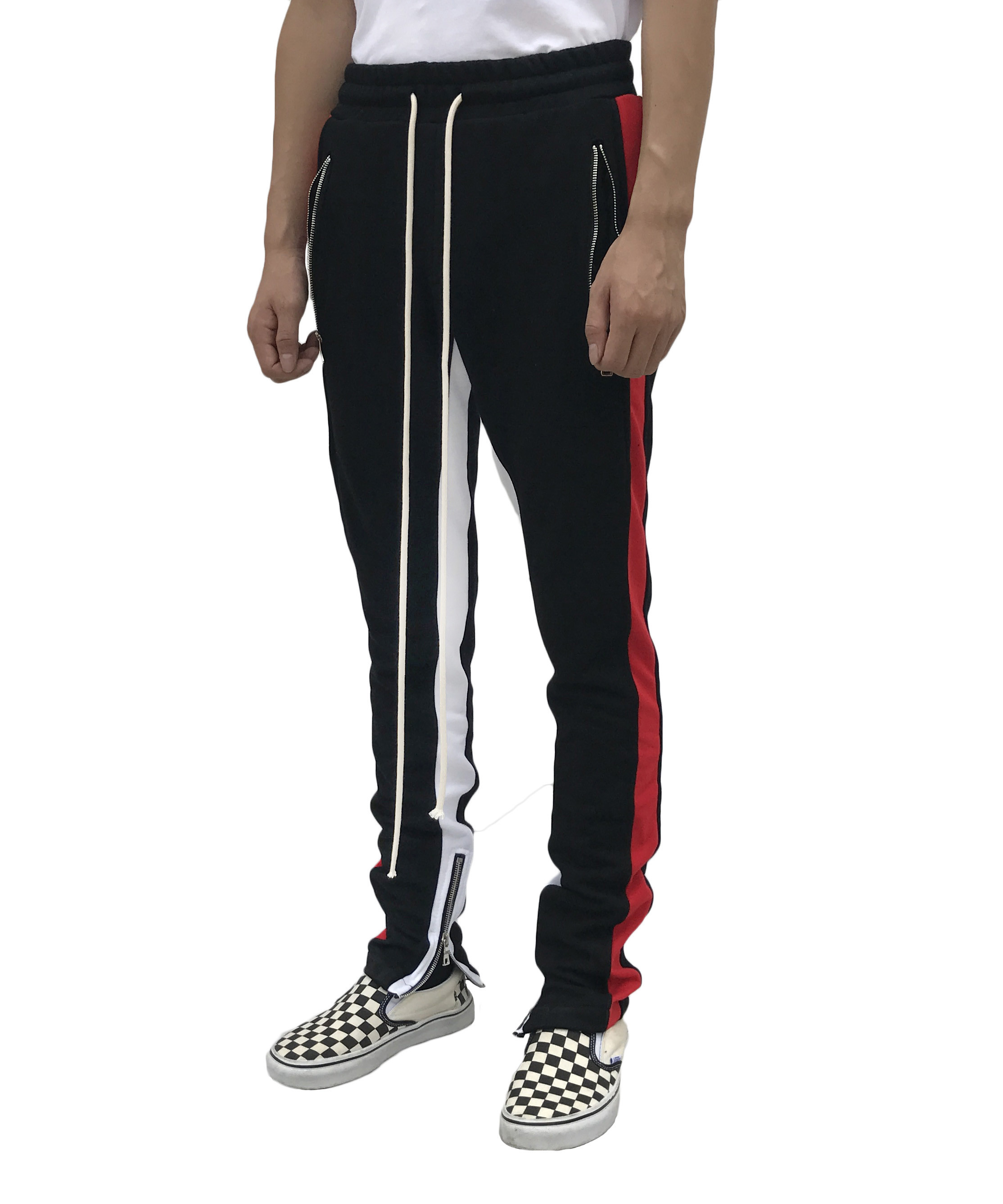 Track pants - Red/White stripe