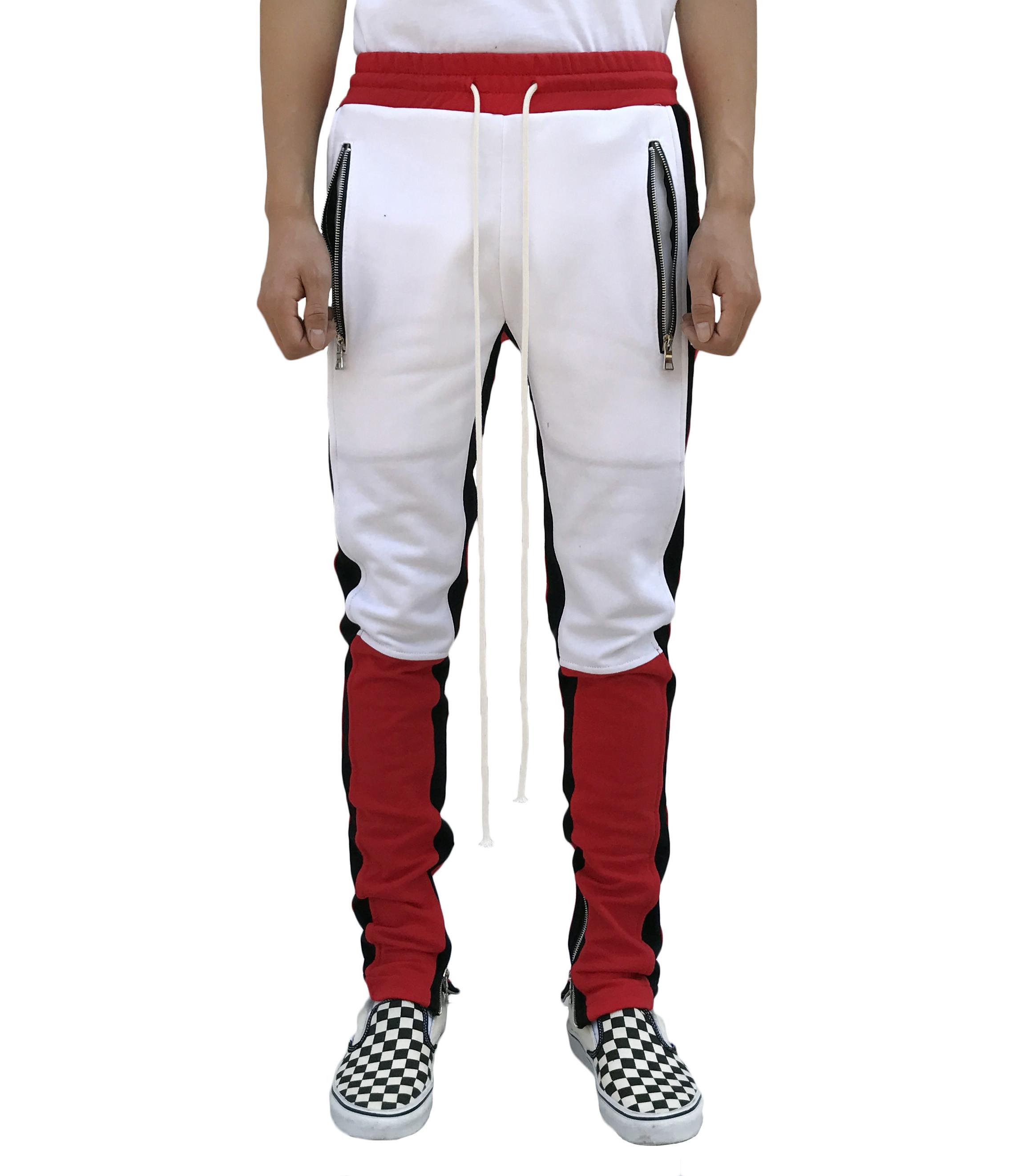 Motocross Track Pant -Red/White