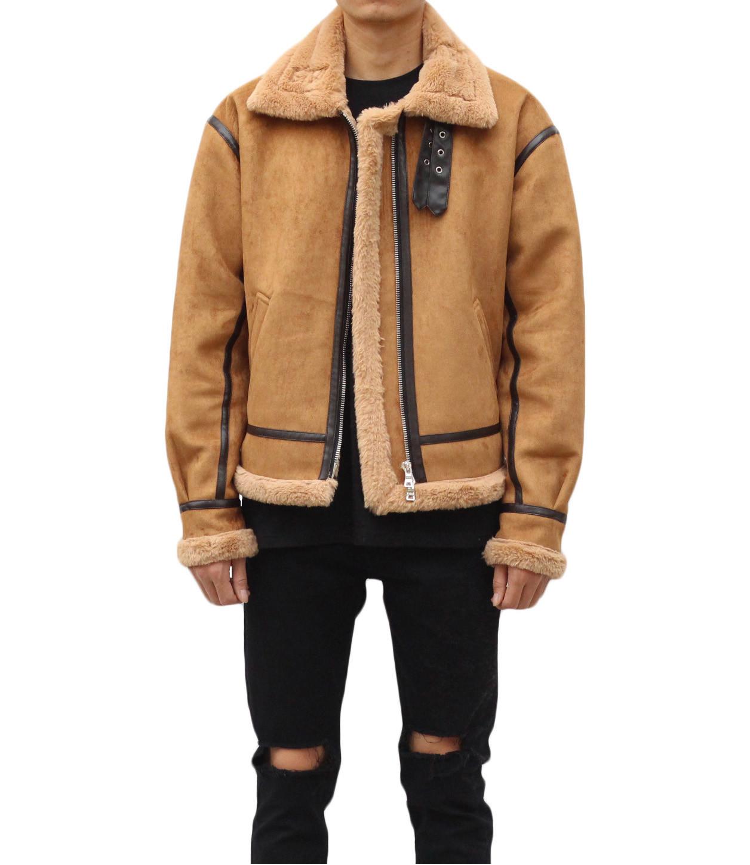 Shearling Jacket - Tan