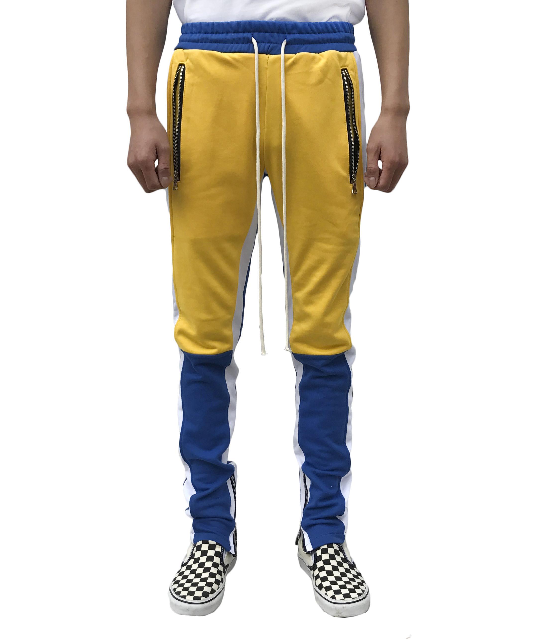 Motocross Track Pant -Blue/Yellow