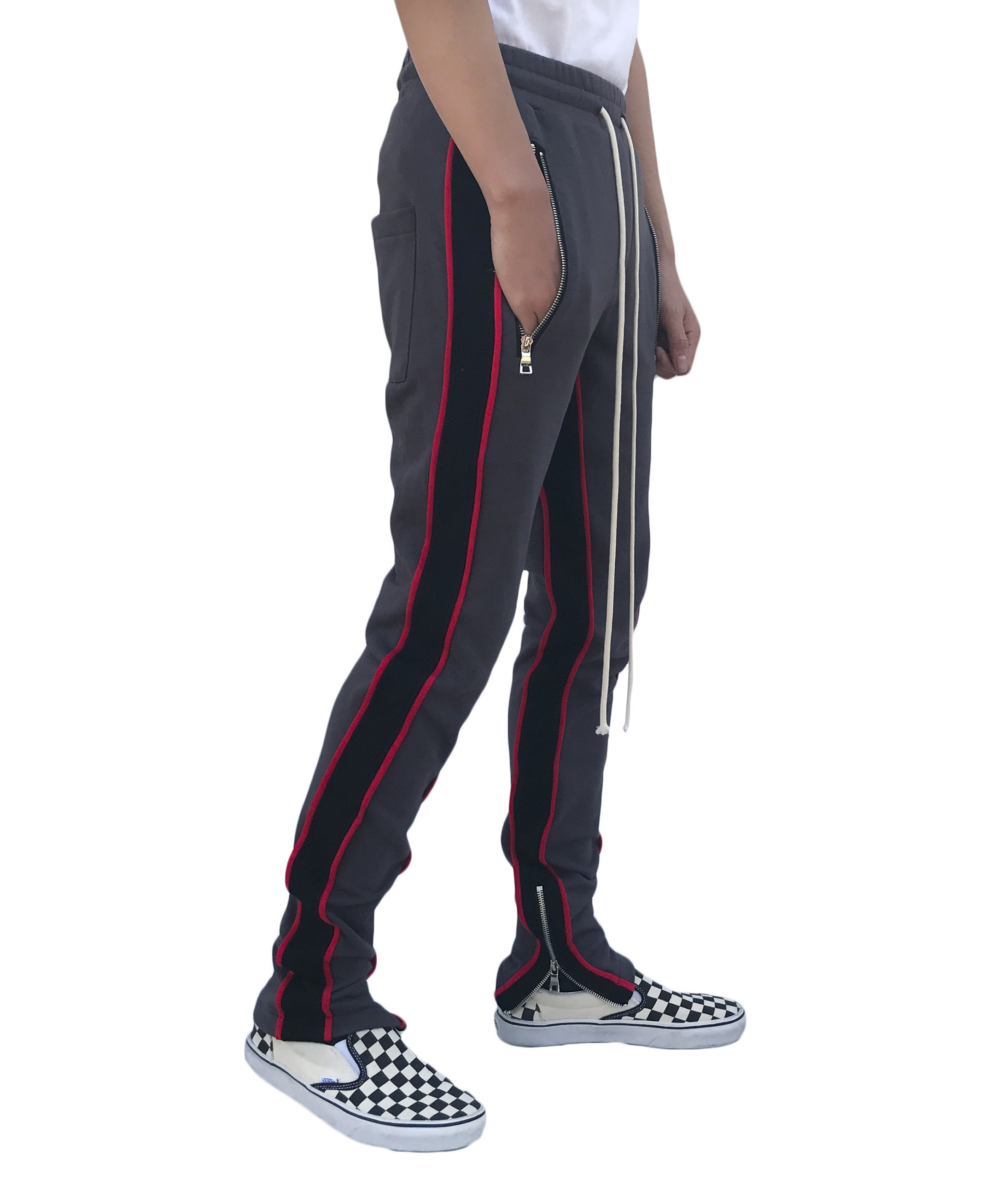 Double Striped Track Pant - Graphite