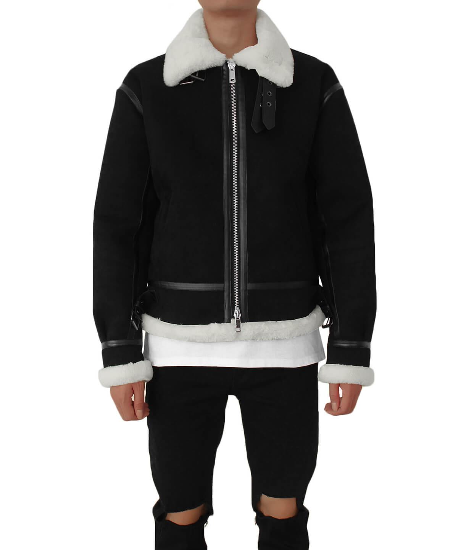 Shearling Jacket - Black/White