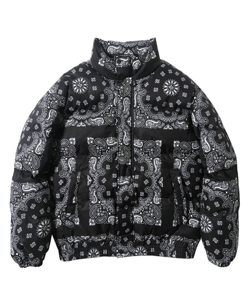 Padded Bandana Jacket - Black
