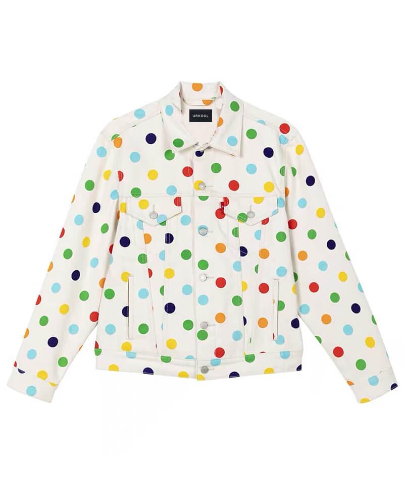 Colorful Dot Denim Jacket