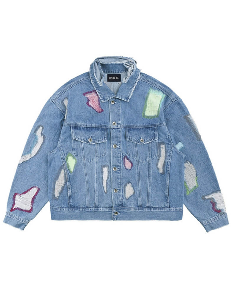 Destroyed Denim Jacket V5