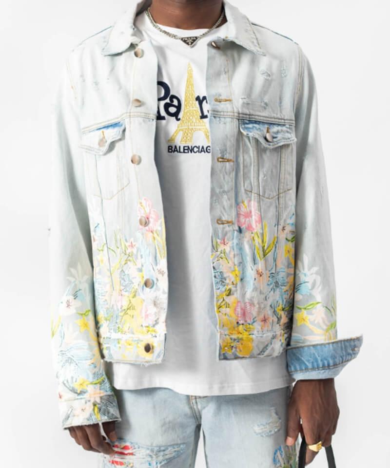 Floral Denim Jacket v4
