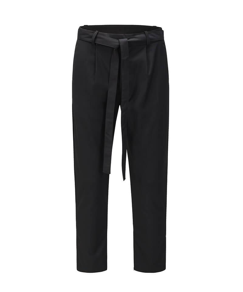 Drawstring Casual Pants - Black