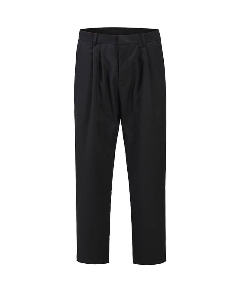 Single Pleat Trouser - Black