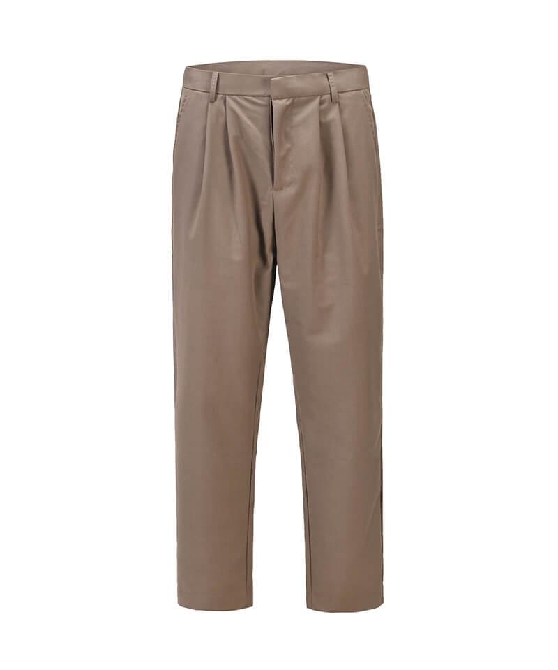 Single Pleat Trouser - Brown